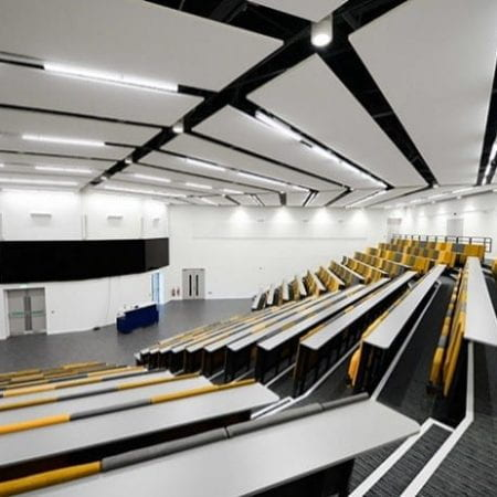 Lecture room in Issac Newton building at University of Lincoln