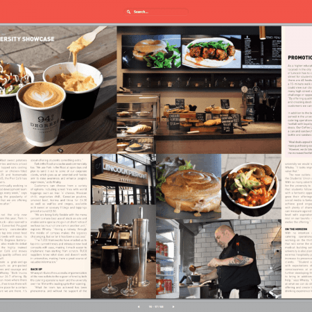 news article spread of FoodLinc featuring in TUCO magazine