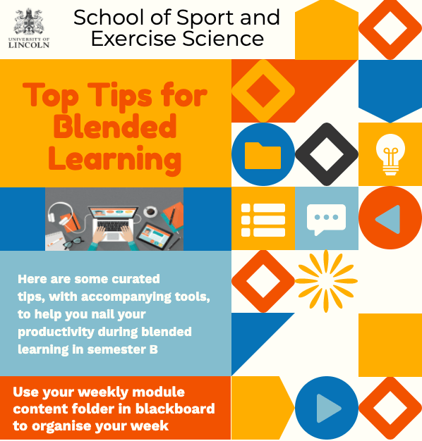Sample infographic produced by an academic promoting support resources to students