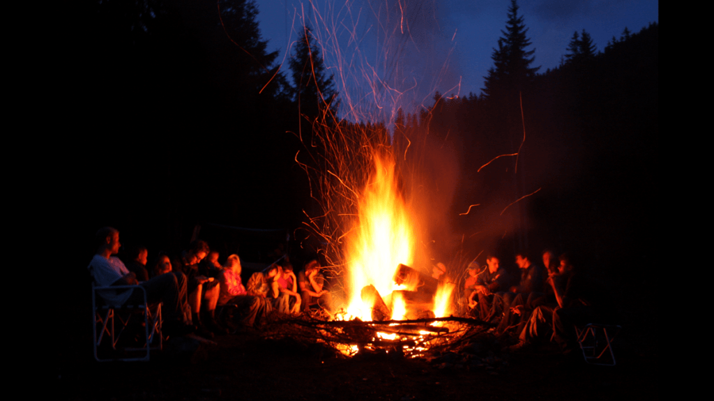 A campfire - one of the example metaphors shown to participants today.