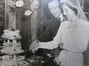 Granny and Granddad on their wedding day