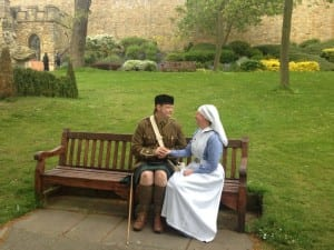 Lincoln Castle WW1 re-enactment.
