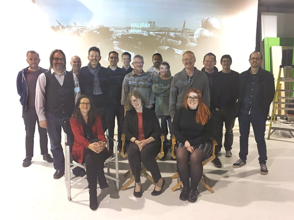 Members of the IBCC, Redman Design and Centre Screen exhibition design team.