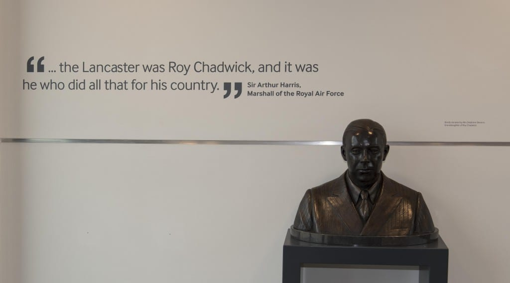 6 The bust of Roy Chadwick and the quote by Harris