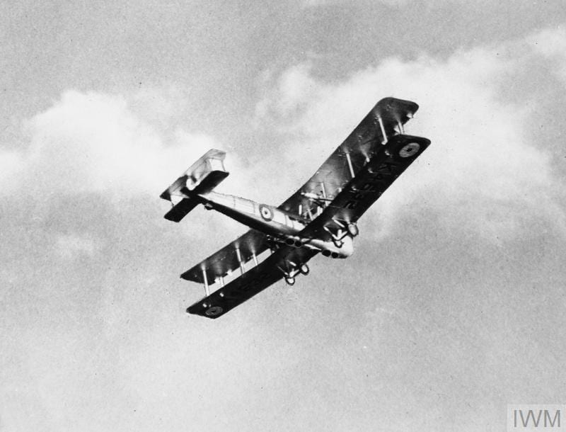 A Vickers Valentia fitted with four external loudspeakers for 'sky shouting'. © IWM (Q 73341)