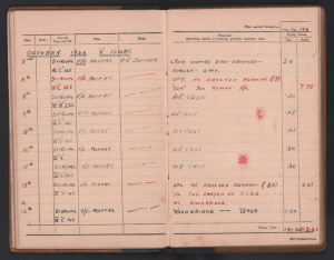 Bellingham log book page