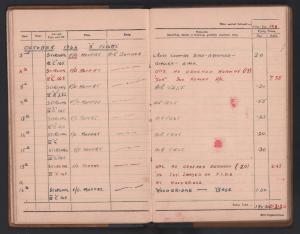 Bellingham log book page