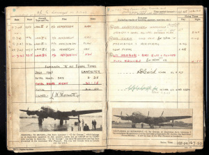Dorricott log book page