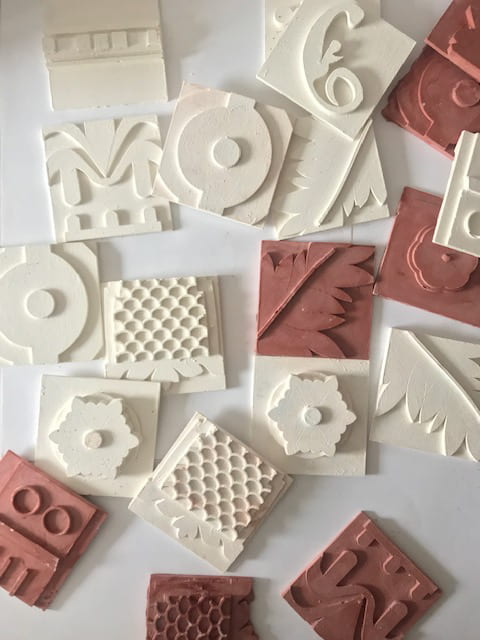 The Ornamental Details of Paris - Plaster cast models depicting the various patterns found all across Paris' buildings.