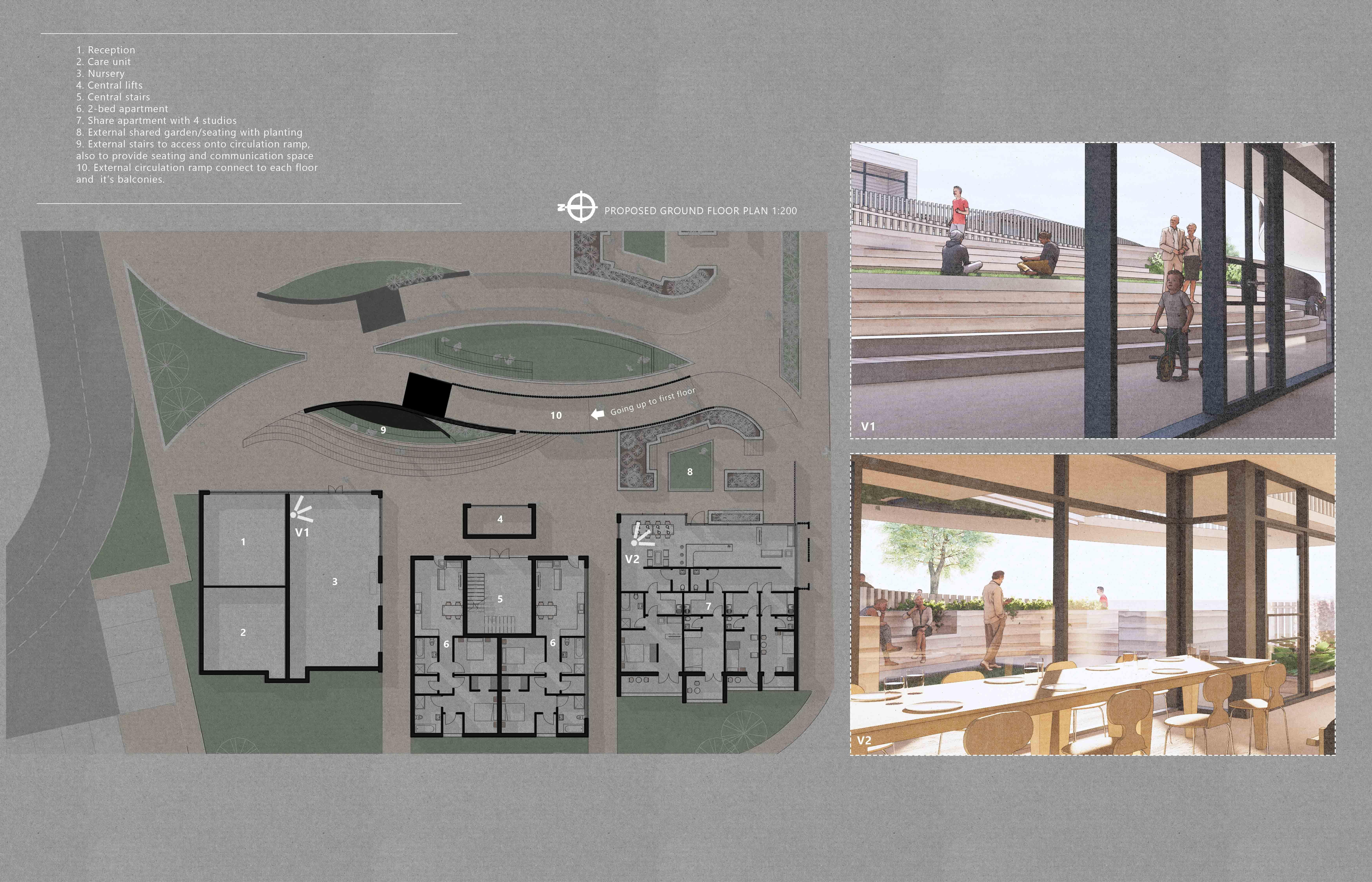Proposed Ground Floor Plan.