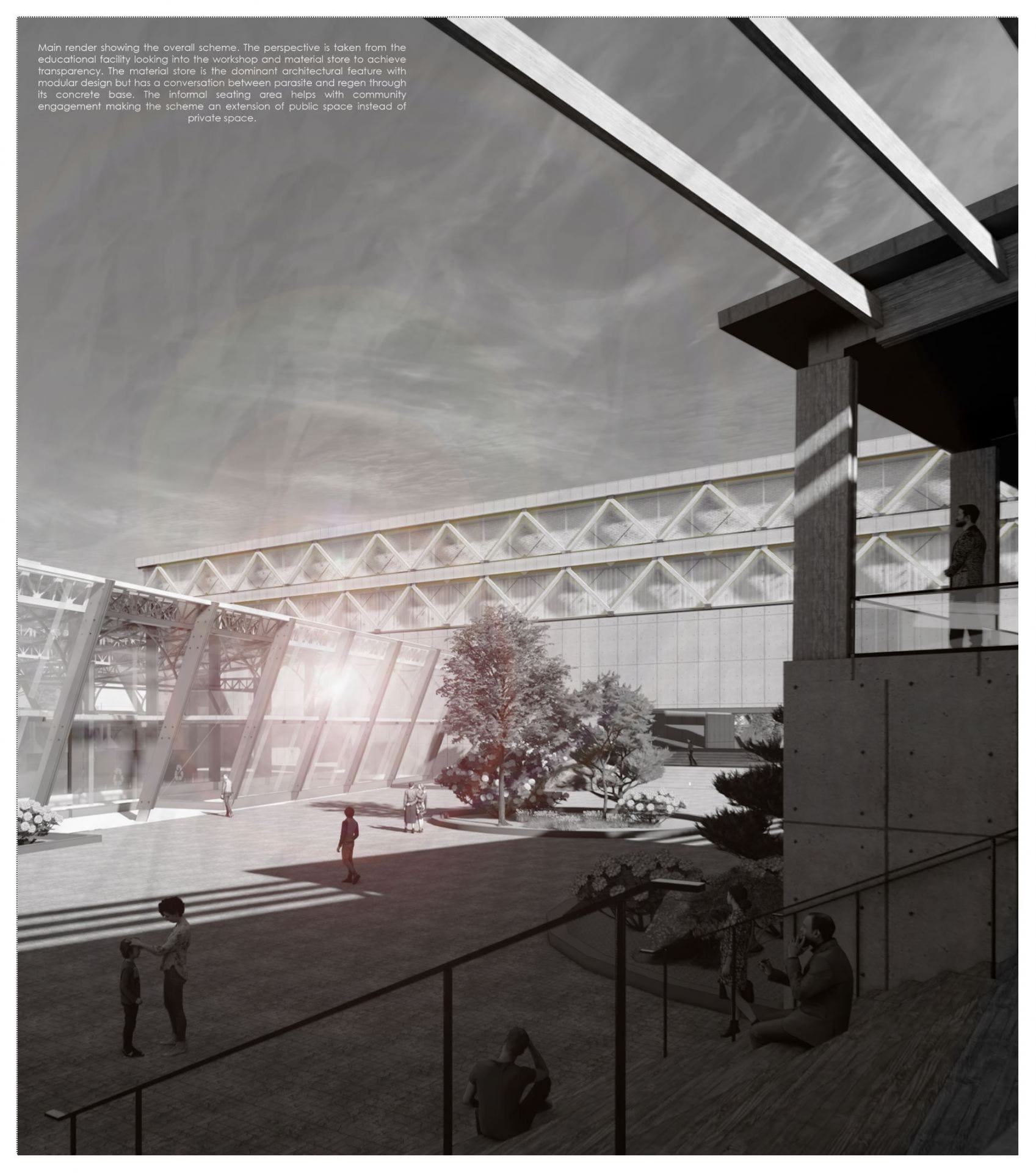 The main visual for the project looked to understand the concept of transparency within the project, to raise awareness for alternative methods of material recycling.