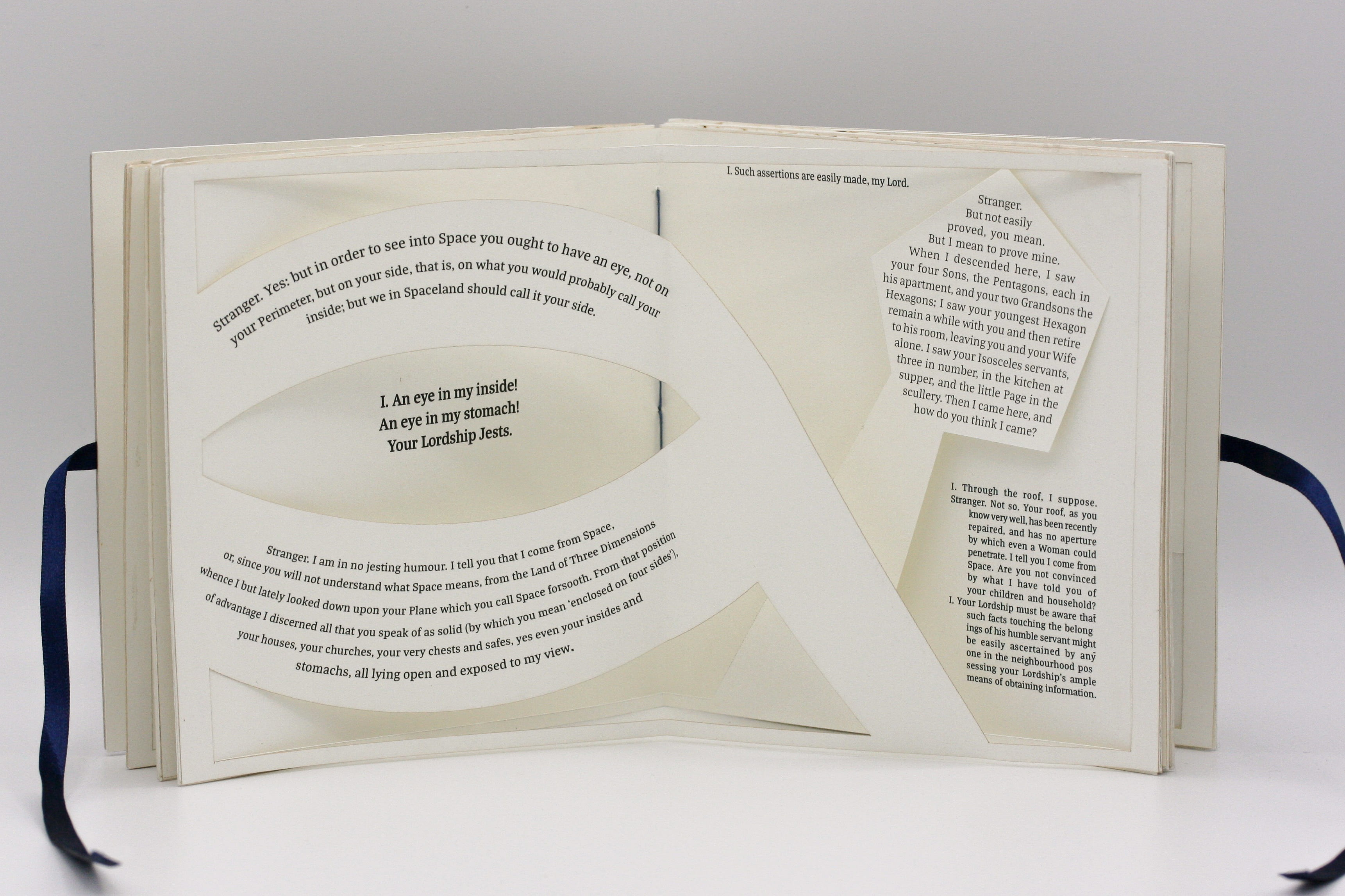 View of 3D elements on the books pages.
