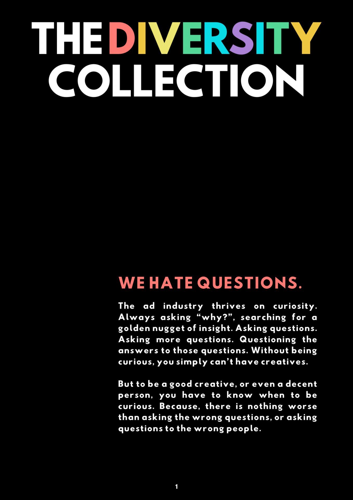 Image of page one of The Diversity Collection's Introduction.