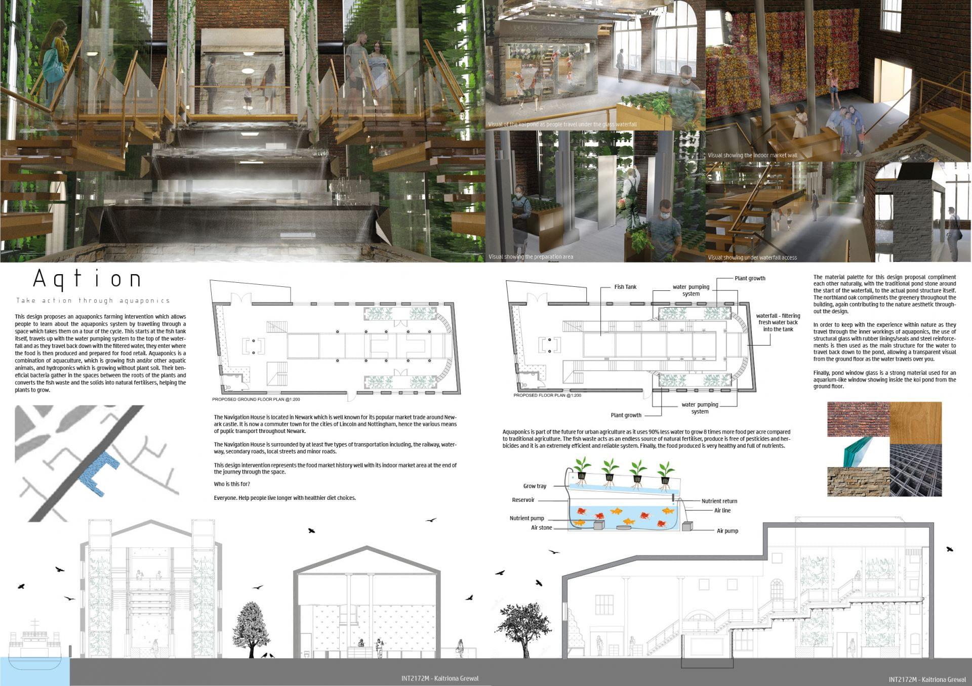 Final design proposal - presentation boards.