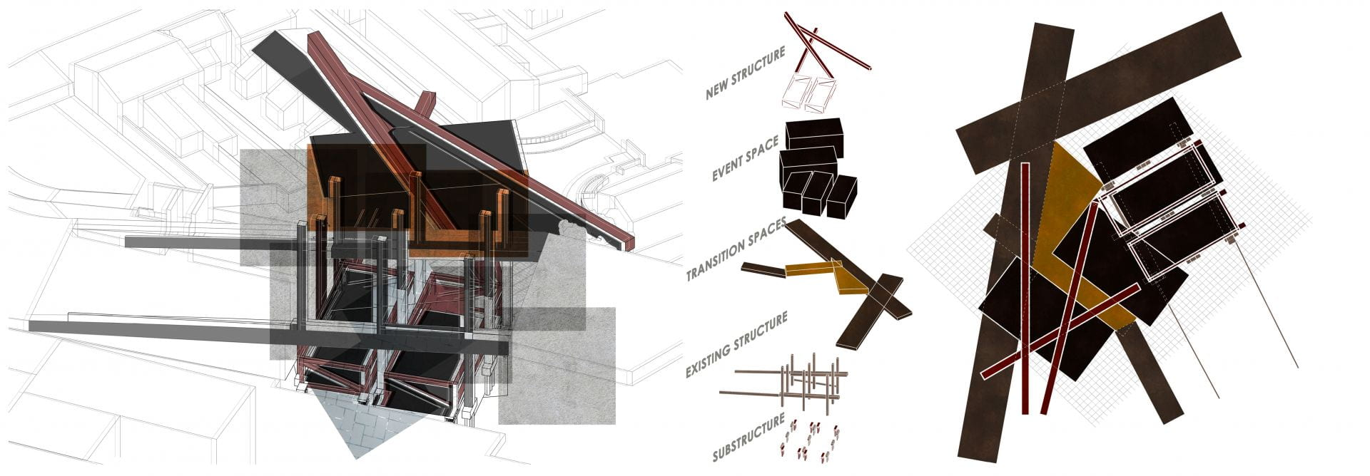 Breakdown of Site Architectonics showing the intended structures