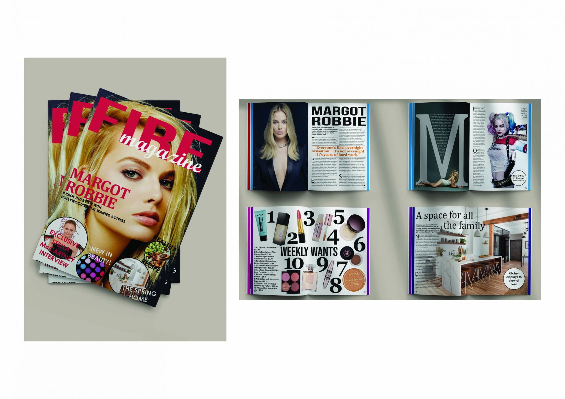 A magazine featuring interviews, fashion, healthy eating and more.