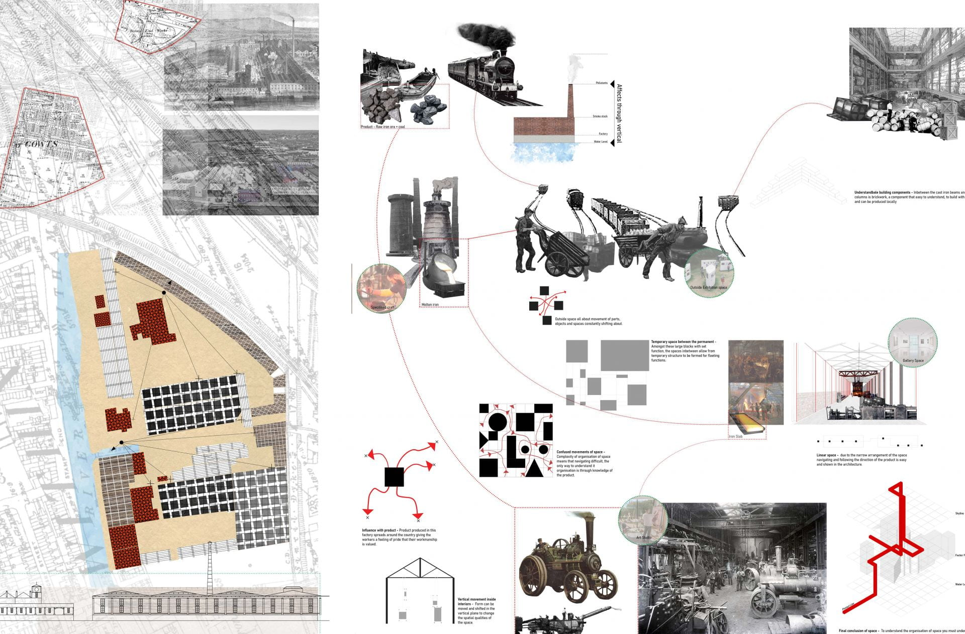 Analysis of program and spatial qualities of one of these lost production space, the Stamp End Iron Works.