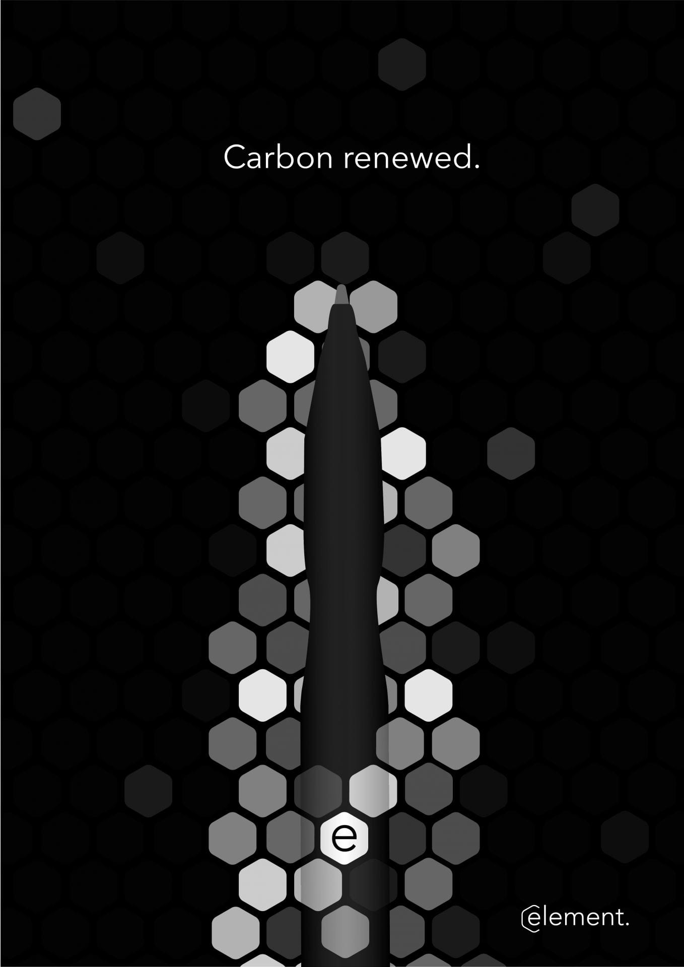 Poster, branding and product design for 'Element'. Sustainable stationery made from captured carbon polymers.
