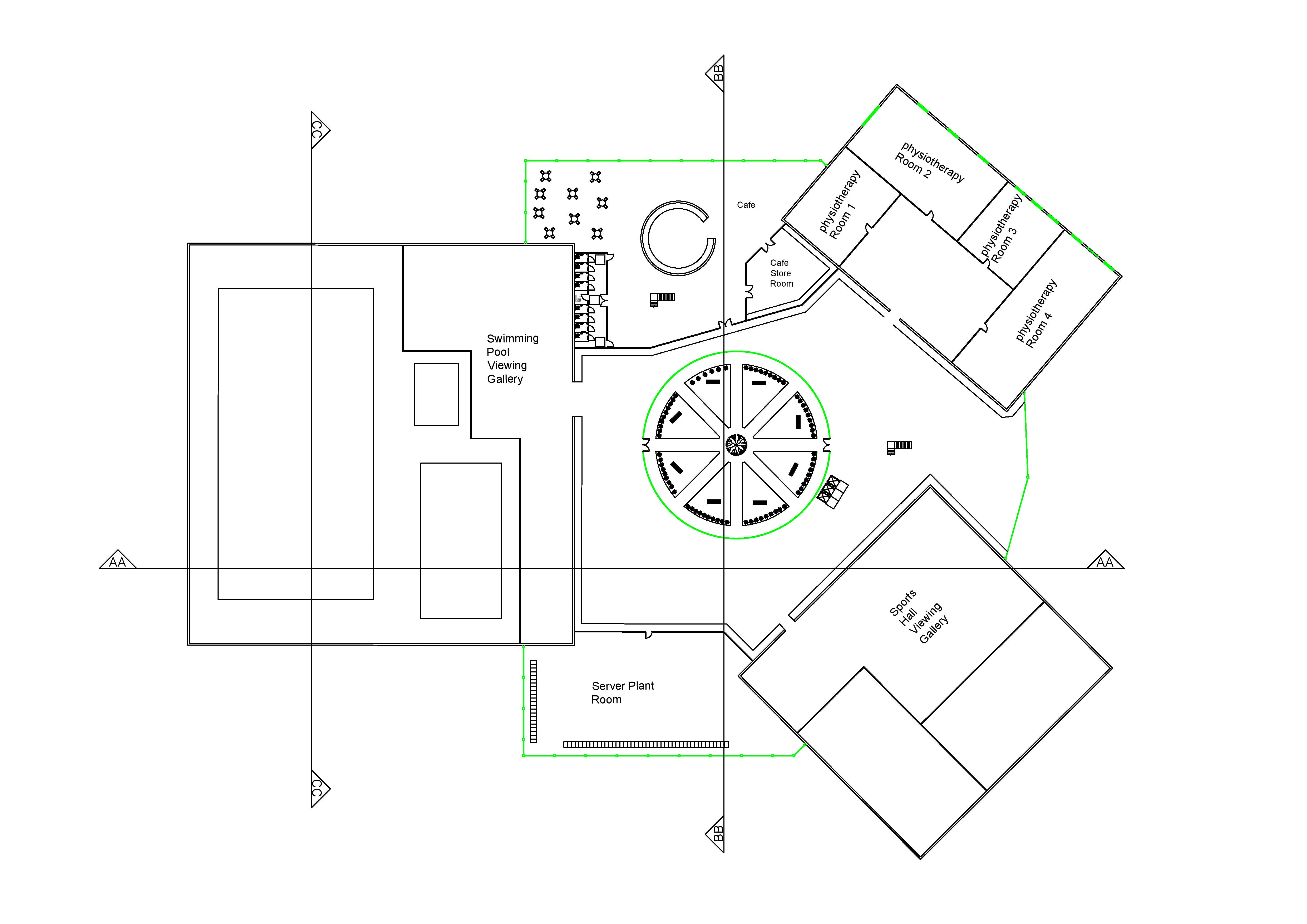 First floor plan for the building.