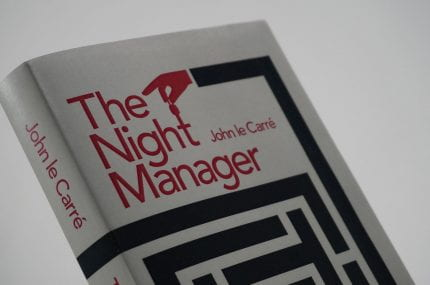 page thumbnail previewing 'The Night Manager' Book Cover Design