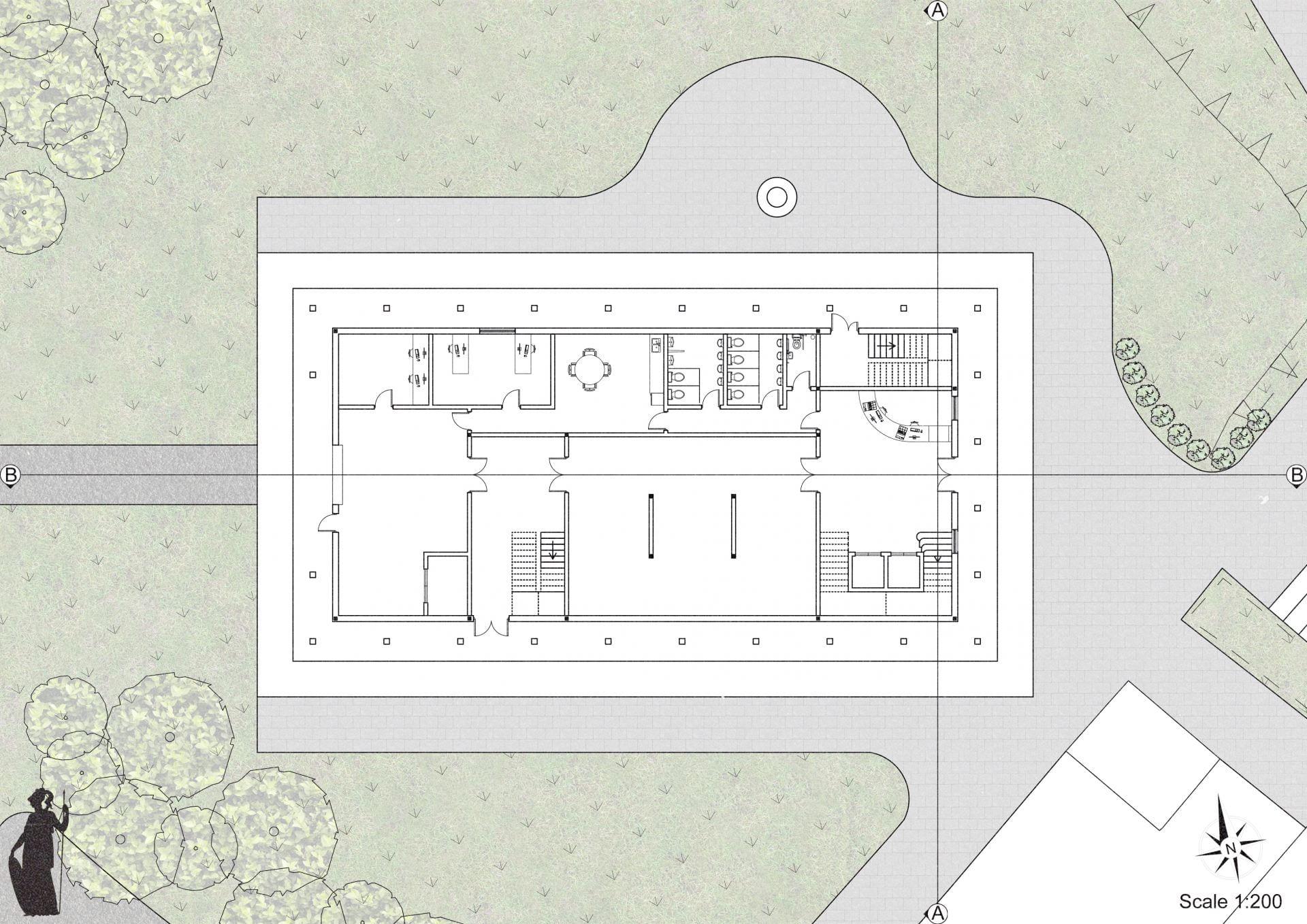 Ground Floor Plan of the Art Gallery