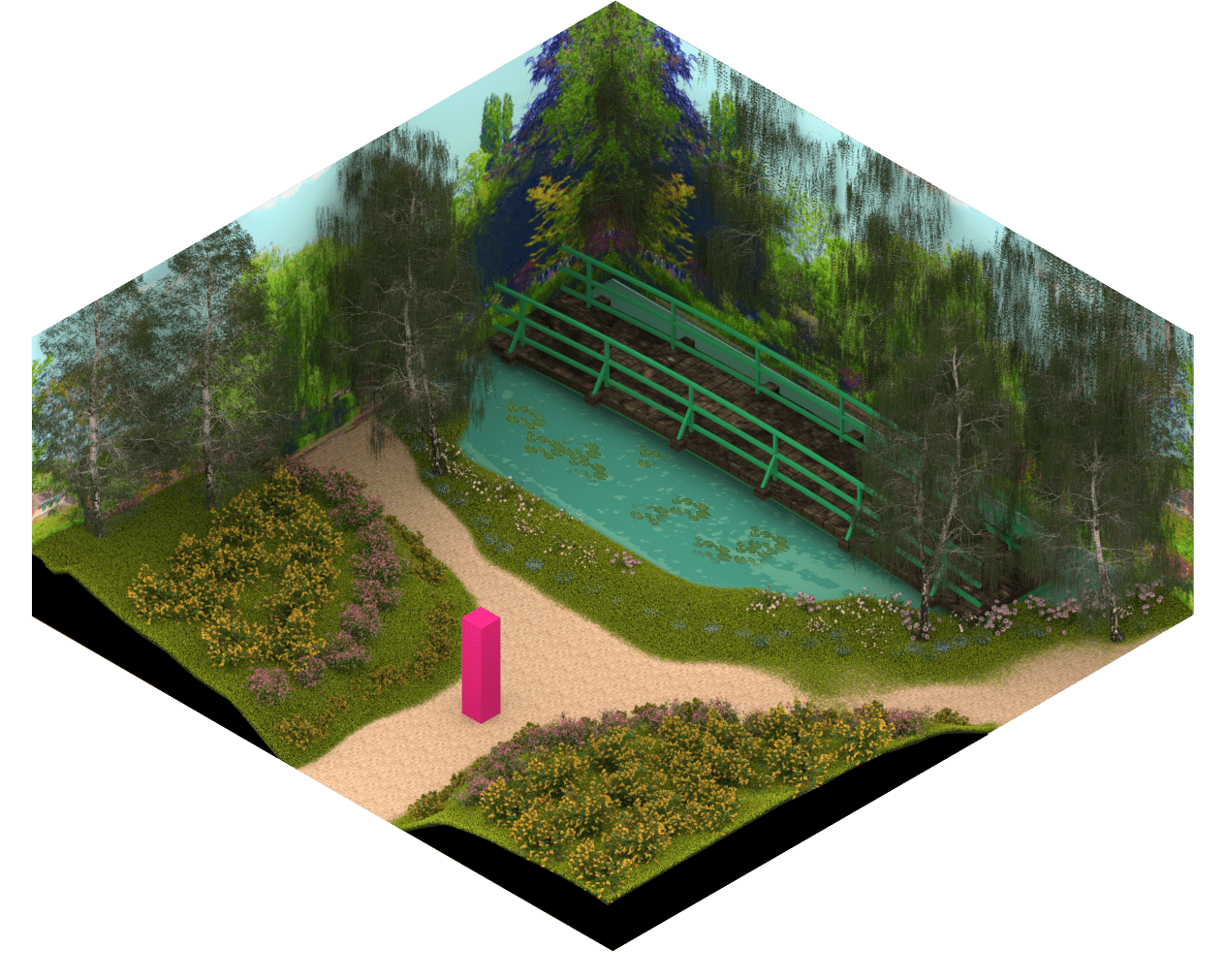 3D model of Monet's Garden.