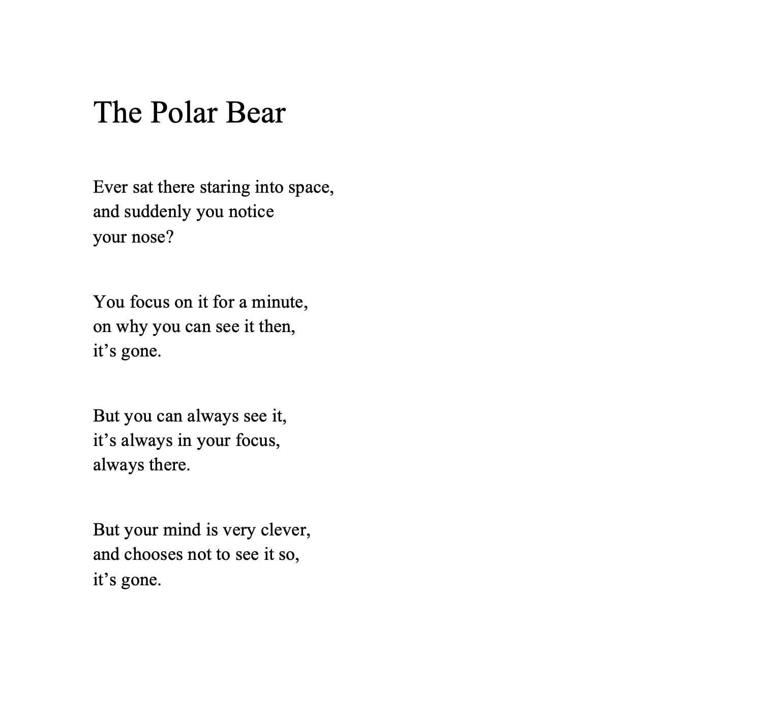 Poem titled 'The Polar Bear'.
