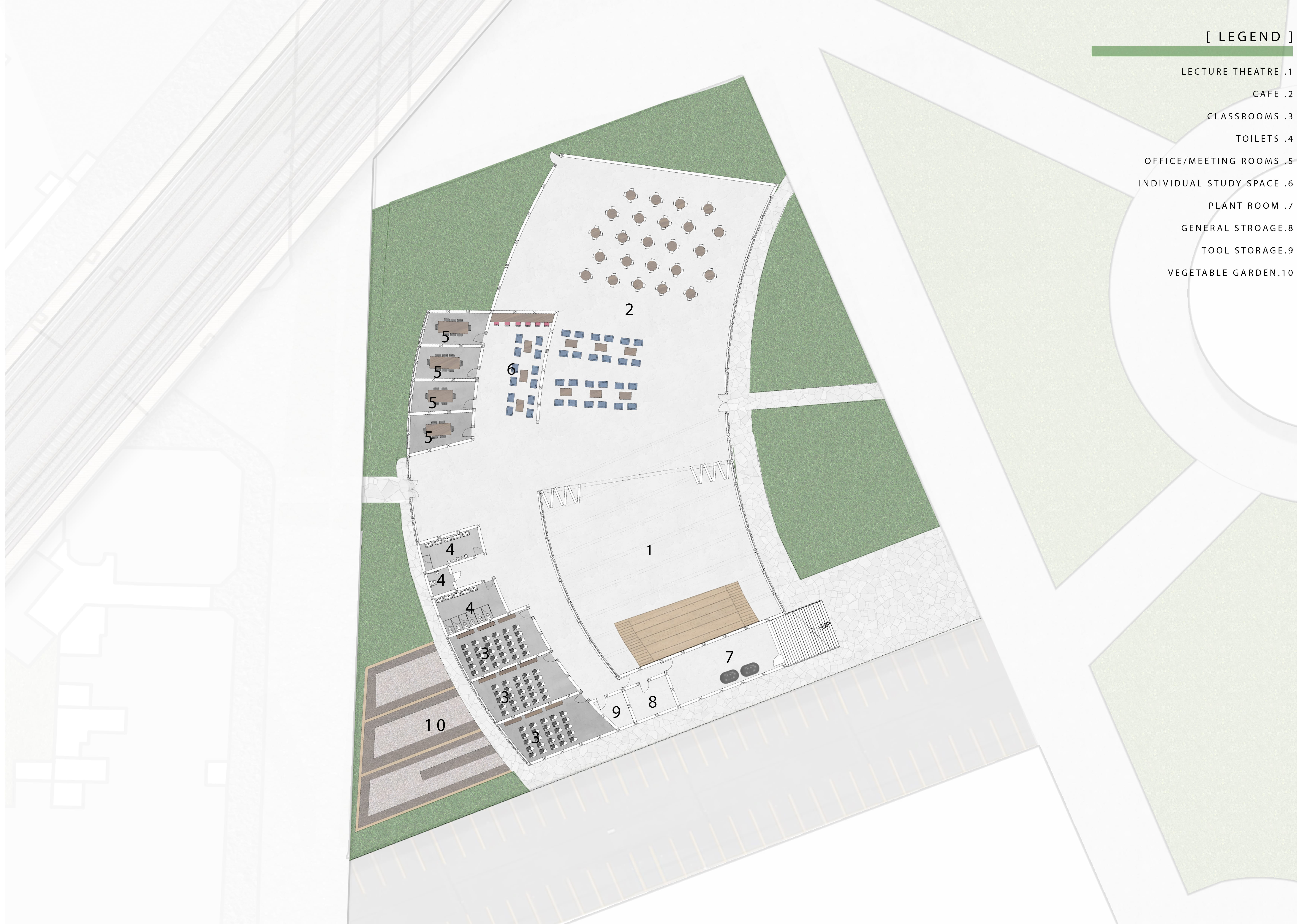 A diagram depicting Proposed Floor Plan For The Transition Hub.