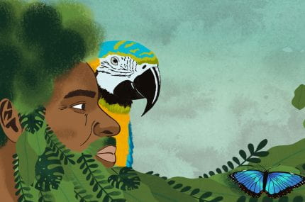 page thumbnail previewing Creatures of the Caribbean – A children's picture book.