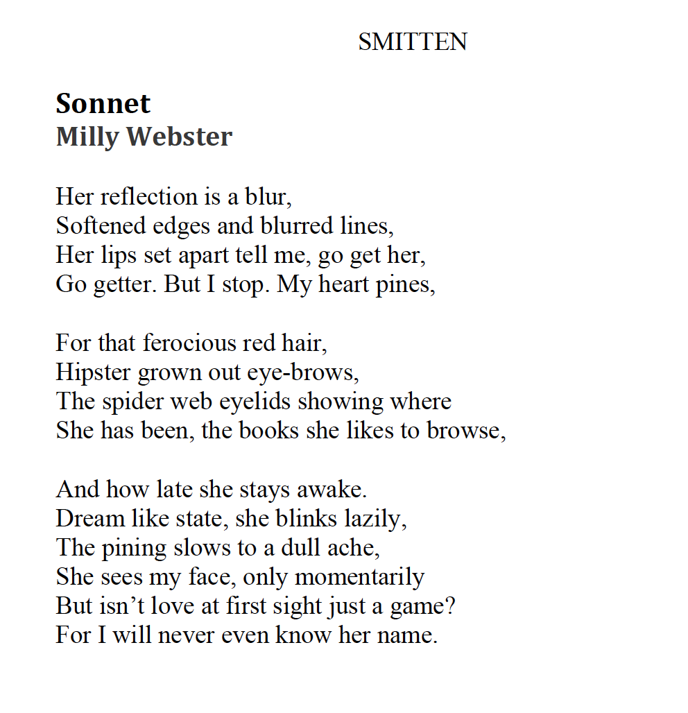 A sonnet that features in the Anthology