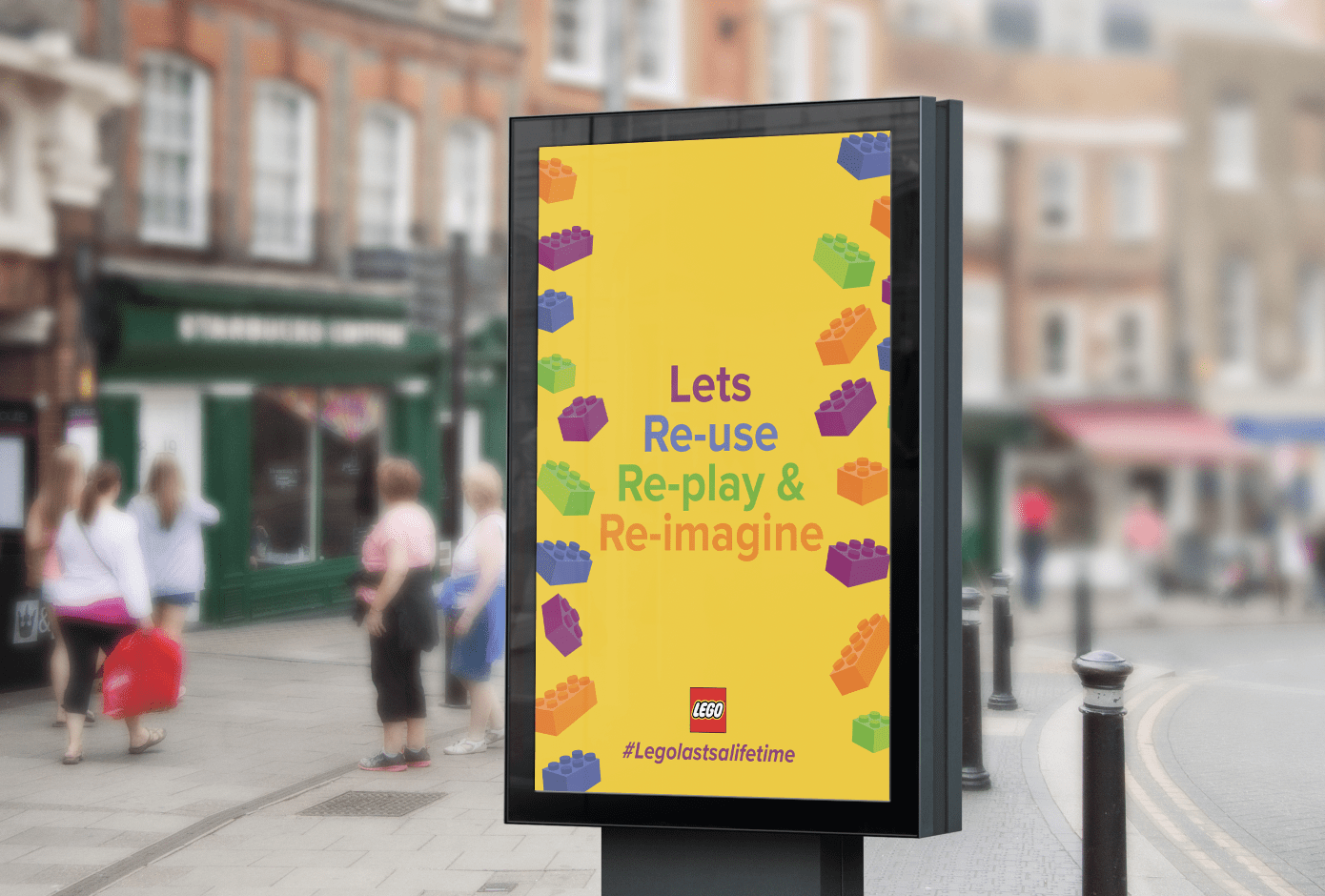 Lego Lasts a Lifetime a campaign designed to encourage people to reconnect with Lego using the new sustainable box.