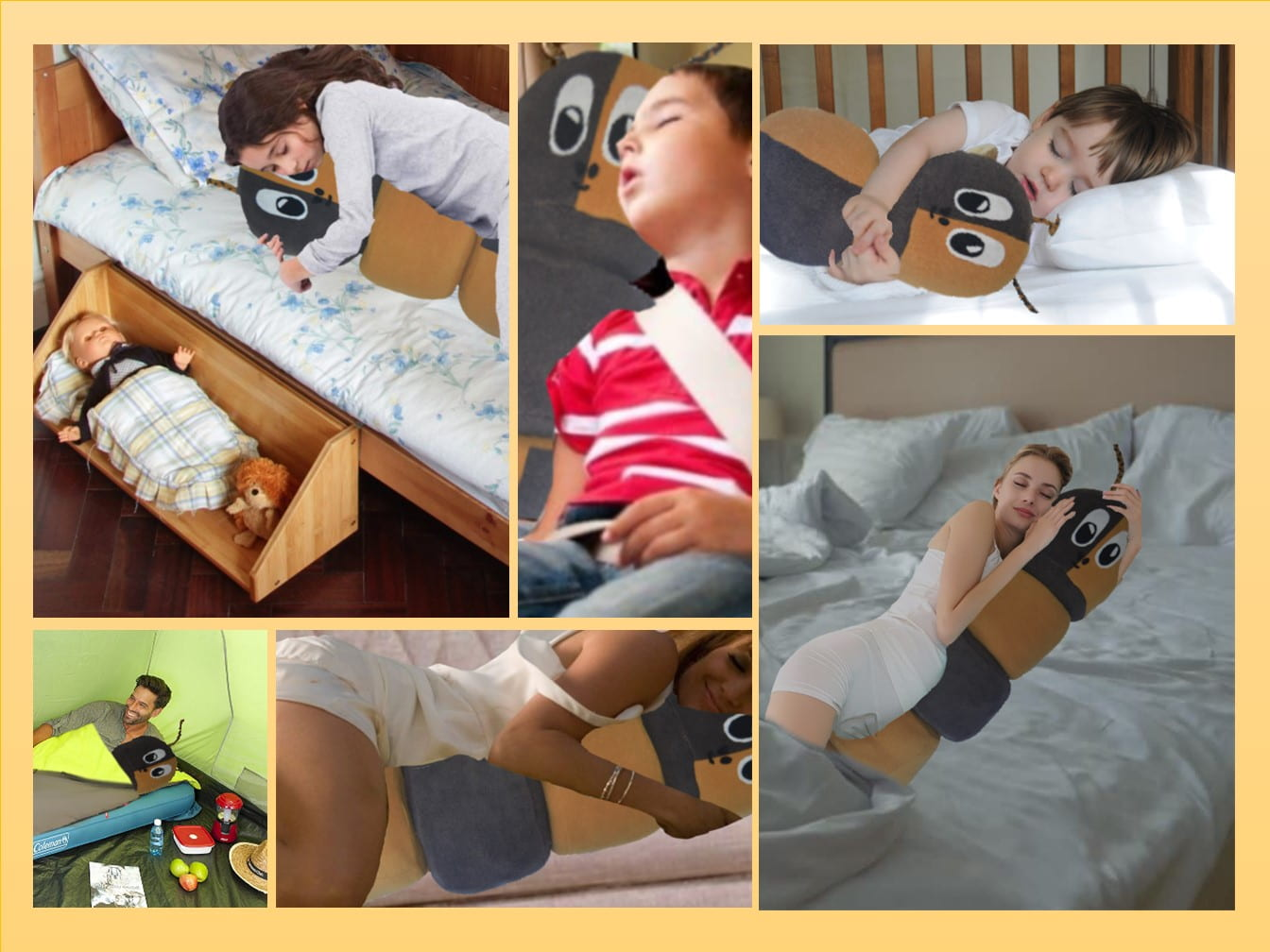 The Cattapillow is designed with the user in mind. Cattapillow can be used from young age, growing up with the users. From car journeys to pregnancy and more, Cattapillow will be by your side.