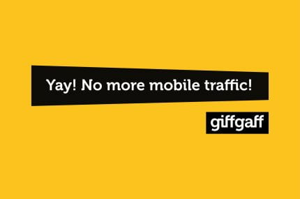 page thumbnail previewing D&AD Giffgaff 'No more mobile traffic'