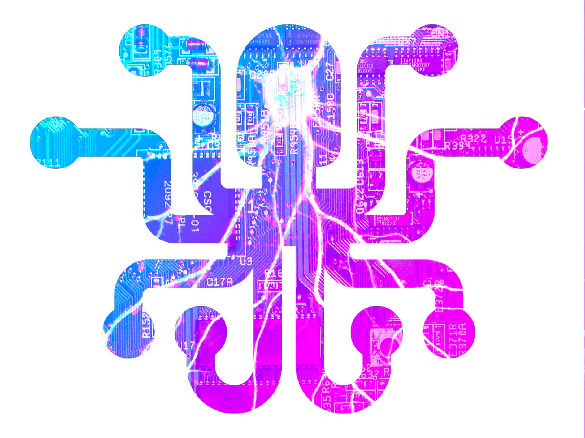 Image of our logo for the brand that we created: 'MindLink' - Organic Futuristic Style.