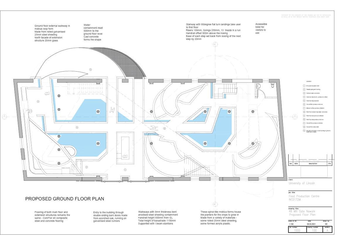 Floorplan of building concept.