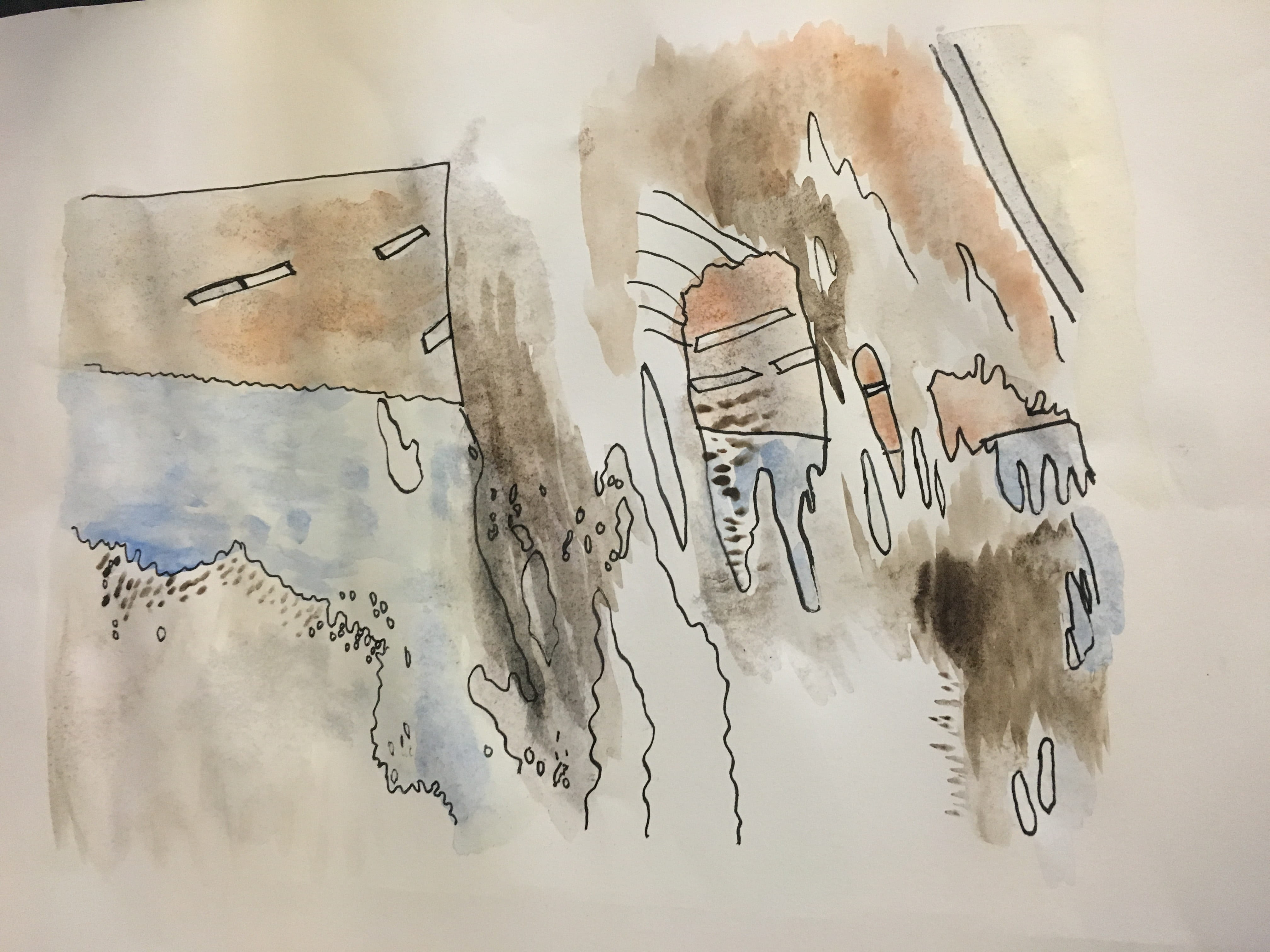 Painting of Lincoln flooding by Jasmine Summers.