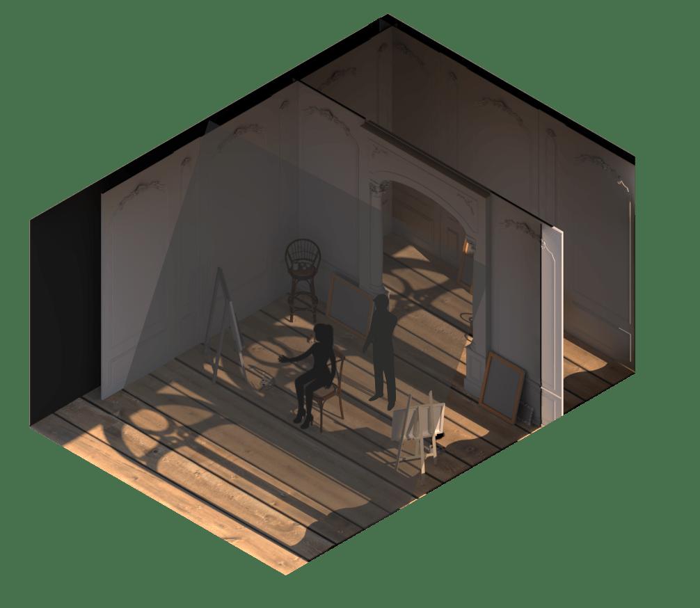 3D model of Picasso's Studio.