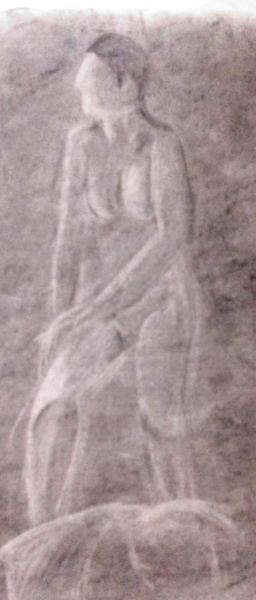 Blurred figure.