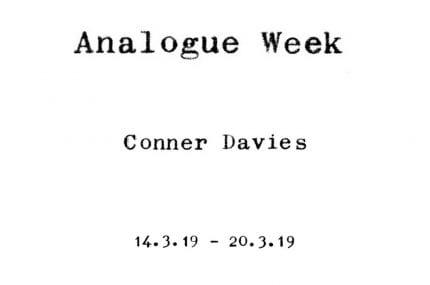 Analogue Week