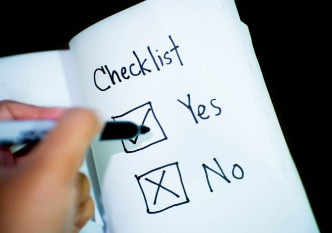 Student Services - Yes or no checkbox in a notepad.