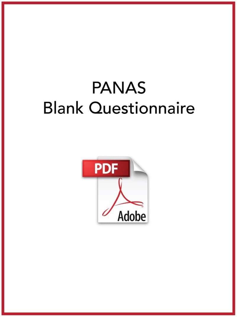 PANAS questionnaire