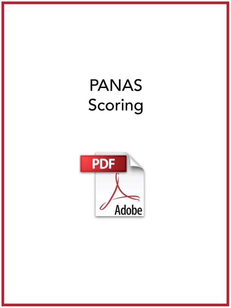 PANAS scoring