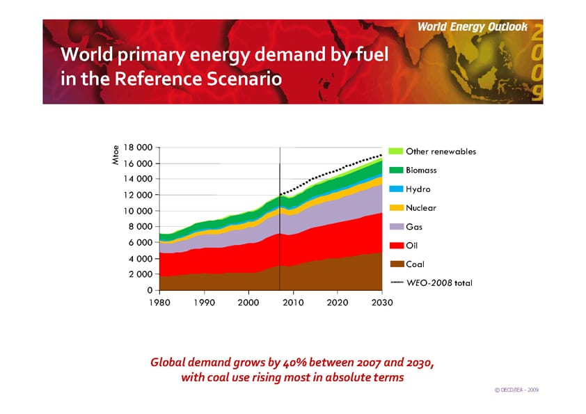 WEO Primary Energy Demand Reference Scenario