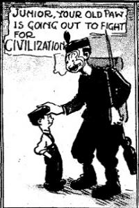 Single panel of Henry Dubb Comic strip