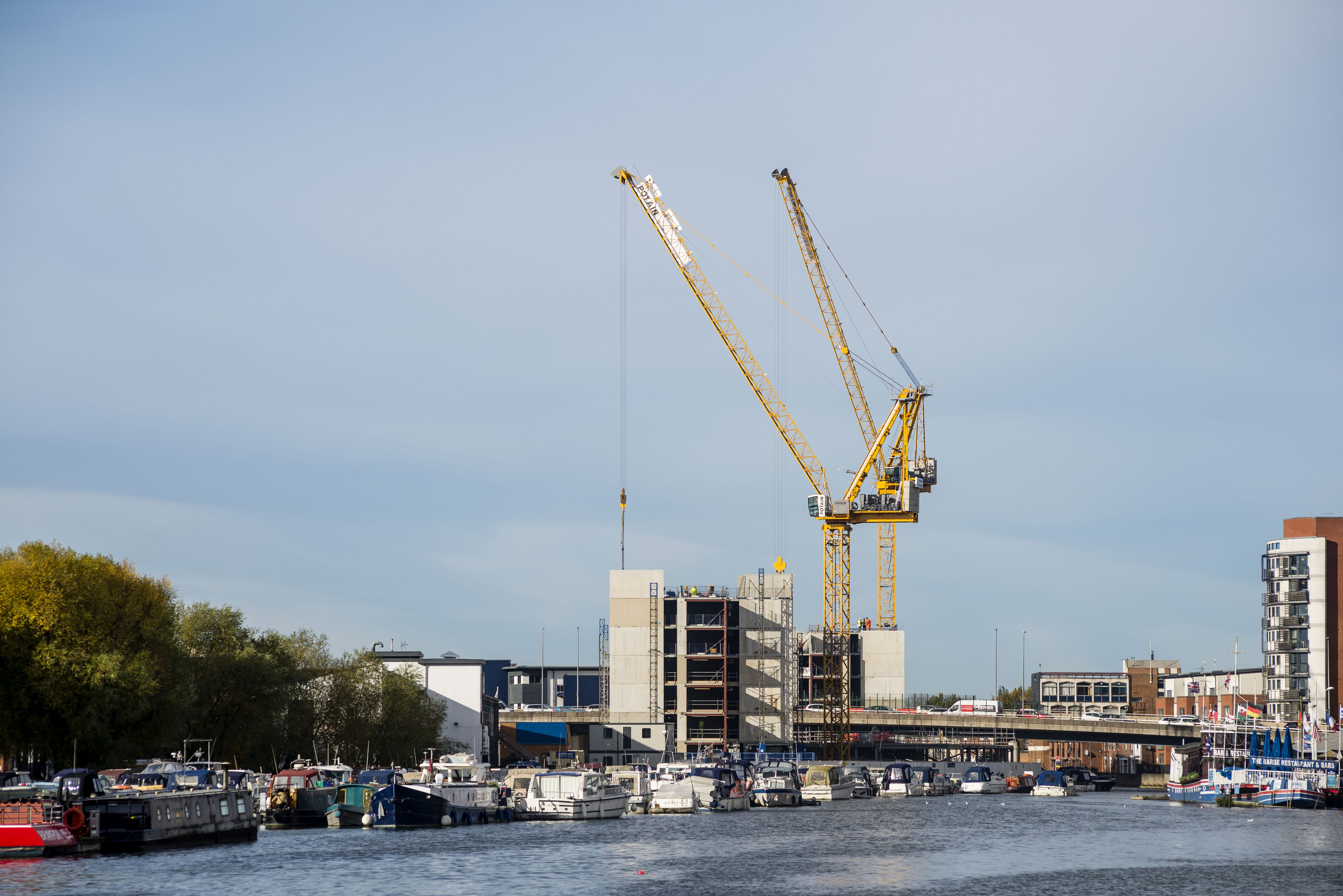 Image of the an accommodation block being built