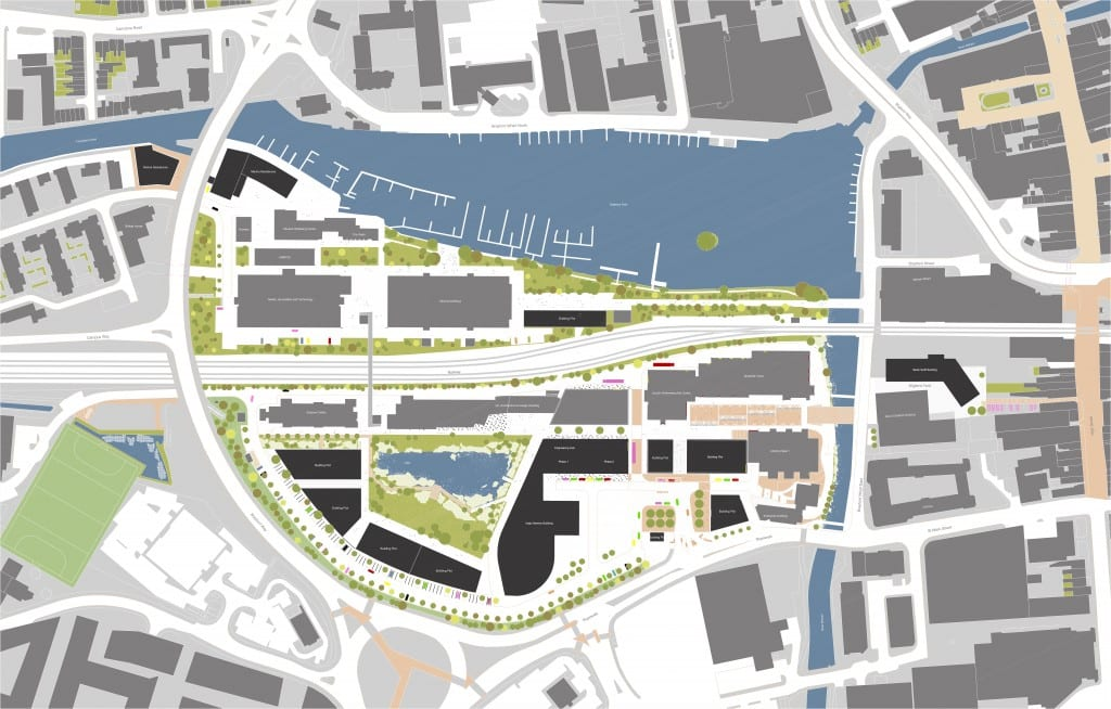 Brayford Pool Campus Masterplan (updated August 2015). Click to enlarge