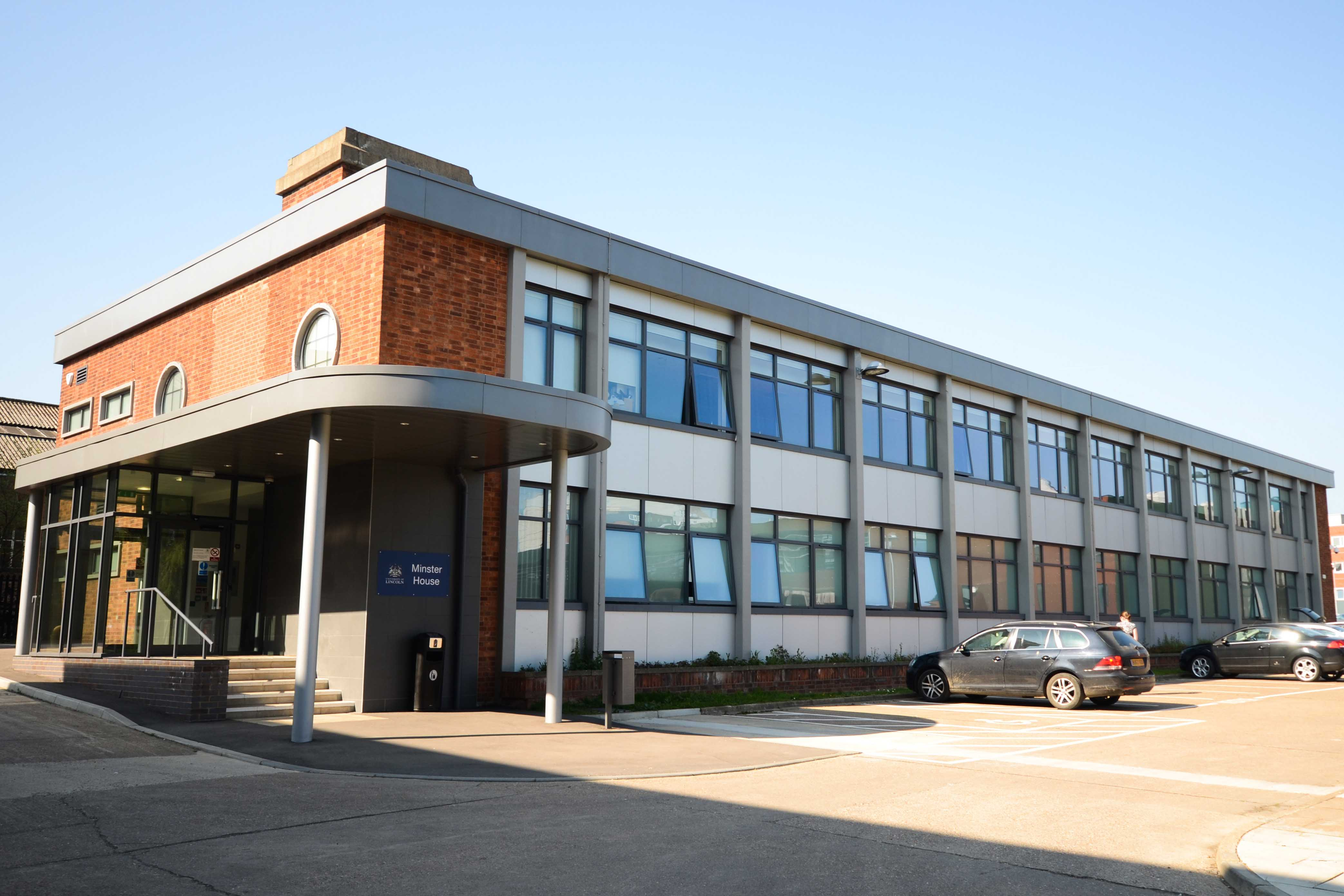 Image of a long two story rectangular building