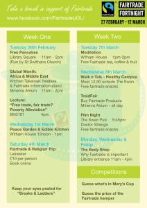 Fairtrade schedule SM