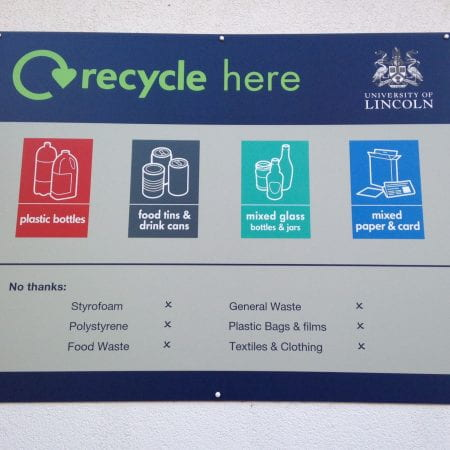 Image of a recycling sign