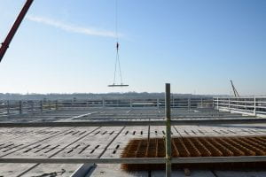Image of a steel girder being lifted into place